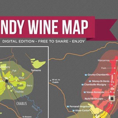 Wine Map of Burgundy